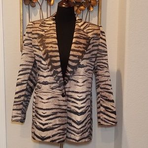Lori Zoni Fierce Tiger Print Blazer - Small